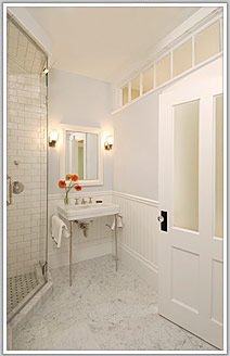 Master bath, 1850s row house